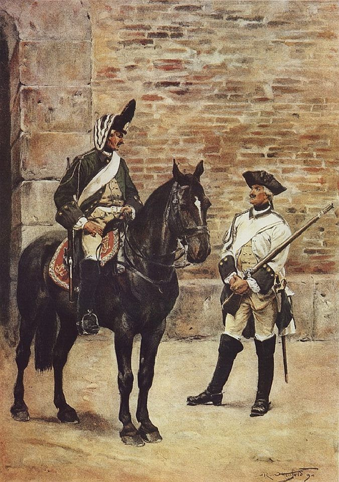 Austrian Horse Grenadier and Dragoon 1740-1756